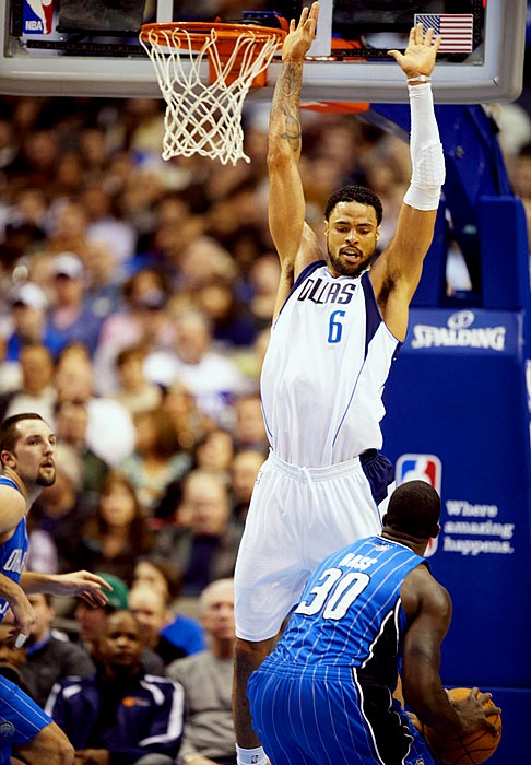 The Mavs gave up Erick Dampier's expiring, non-guaranteed contract -- prime trade bait -- in a deal with Charlotte that netted Tyson Chandler. At the time, fans seemed more annoyed by Dallas' miniscule return on the deal. 'Tis no more. After years of nagging injuries, the 7-foot-1 center has given the Mavs a defense that's just as a stellar as their offense. The Mavs' field-goal defense and rebounding have improved considerably over last season, while Chandler is averaging a near double-double (9.1 points, 9.1 rebounds) after missing 68 games over the past two seasons with foot injuries.
