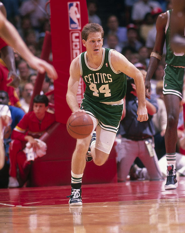 In short, Ainge could do it all in high school: He led North Eugene (Ore.) High School to back-to-back state titles in basketball in 1976-77, was one of the state's top football recruits and is the only person to be named a first-team All-American in football, basketball  and  baseball. Ainge gave up football to pursue pro careers in both baseball (he's the youngest player in Toronto Blue Jays history to hit a home run) and basketball (he played 14 seasons in the NBA, coached three seasons, won two titles and was inducted into the Hall of Fame). He currently serves as Celtics president.