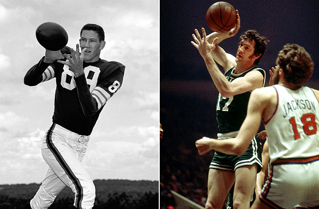 The eight-time NBA champion and Hall of Famer is without a doubt one of basketball's all-time greats. But before he made it big in the NBA, the 6-foot-5 Havlicek was a three-sport athlete who gained notice for his talents on the football field. In 1962, he was drafted both by the NBA's Boston Celtics and the NFL's Cleveland Browns, in the seventh round. He completed a brief stint at the Browns' training camp that year but decided to focus solely on hoops and his future with the Celtics. The decision seemed to work out well for him.