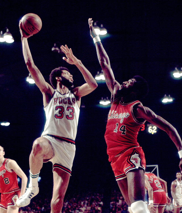 Then known as Lew Alcindor, Abdul-Jabbar dominated from day one with the Bucks after a legendary career at UCLA. The big man scored 28.8 points and pulled down 14.5 rebounds per game his first season and even added 4.1 assists to boot. His presence -- and patented skyhook -- helped the Bucks go from 27-55 the year before to a 56-26 campaign his rookie season.