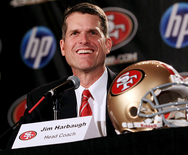 Following an impressive 11-1 season and a BCS bowl victory at Stanford, Harbaugh had first dibs of the vacant coaching positions in the college and pro ranks.  He was rumored to be coaching a number of places for weeks, but settled on his hometown San Francisco 49ers. The hope is that he'll help end the 49ers' eight-year playoff drought.