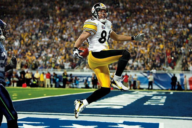 Steelers wide receiver Hines Ward was on the receiving end of a trick play in Pittsburgh's Super Bowl XL victory. Wide receiver Antwan Randle El took a reverse handoff from running back Willie Parker and threw a 43-yard touchdown pass to Ward, marking the first time in Super Bowl history that a receiver threw a touchdown pass.