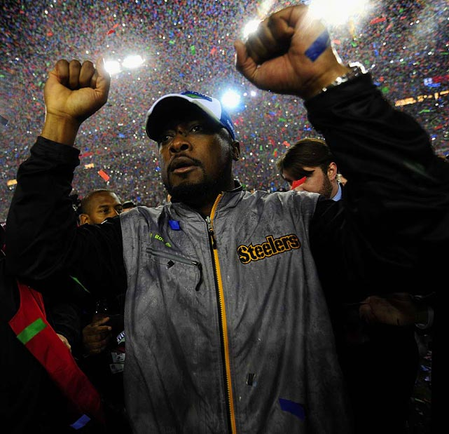 Mike Tomlin became the youngest head coach to lead a team to a Super Bowl victory as his Steelers defeated the Arizona Cardinals in Super Bowl XLIII.