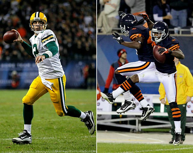Aaron Rodgers is the hottest quarterback left standing and only seems to get better with every outing. The vaunted Bears' pass rush has been anything but itself against the Packers this year. On the way to racking up 546 yards this postseason, with six touchdowns and no interceptions, Rodgers consistently has spread the ball to all of his receivers. If the Bears can't get to Rodgers, it will be on Harris, the free safety, helping Jennings, who figures to be attacked on the outside.