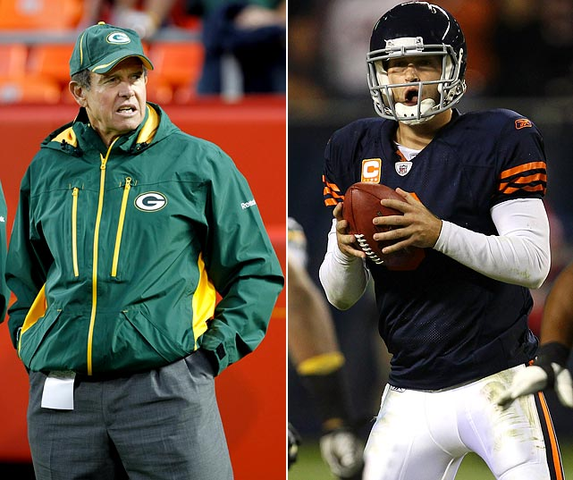 It took a long time for Cutler to endear himself to Bears fans, because he's been prone to the hiccup-type game, as well as the untimely turnover. This has been Cutler's breakout season. Still, Capers is a master at crafting an array of confusing pass-rush schemes and disguising them well. It may be Clay Matthews garnering all the headlines, but Capers will bring any combination of Matthews, inside linebackers A.J.Hawk and Desmond Bishop, defensive backs Charles Woodson and Tramon Williams and more. After giving up the notorious 10-sack effort early against the Vikings, the Bears' offensive line and coordinator Mike Martz have adjusted well. If Capers wins the mind-game battle, or Martz gets too greedy, Cutler could give up pivotal turnovers.