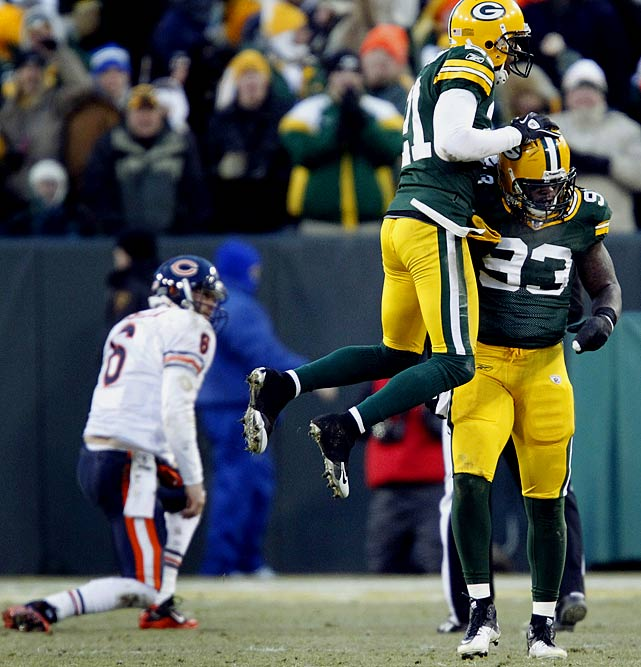It took Walden (93) three years and four teams to become an overnight sensation. But as a testament to both his perseverance and Dom Capers' mastery of the 3-4 defense, Walden has become exactly that after registering 11 tackles and two sacks in the Pack's 10-3 playoff-clinching victory over the Bears. Playing opposite Clay Matthews, Walden could be hugely important against Michael Vick, both in pass-rush situations and as a spy versus Vick's scrambles.