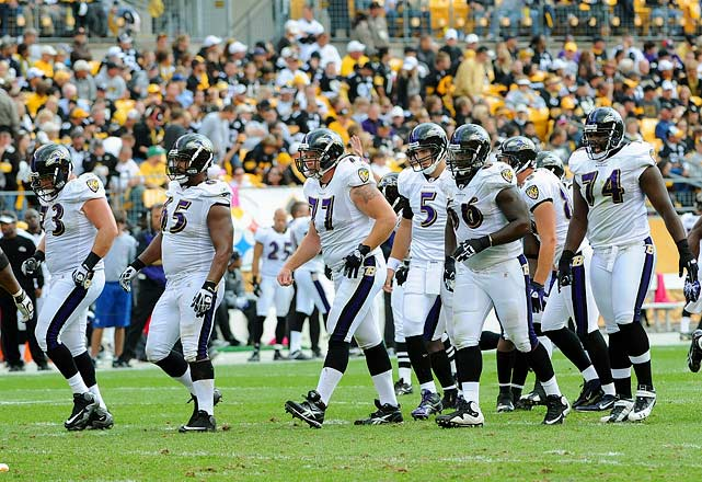 No team has epitomized just how important an offensive line can be more than the Baltimore Ravens. With exceptional skill players everywhere, the Ravens' offense has struggled, fallen short of expectations and given up big sack numbers (40 in the regular season). Center Matt Birk (77) is a six-time Pro Bowler who can see the end of his career closing fast. Yanda (73) has been abused of late at the point of attack. Oher (74) has been hampered by injuries. If Birk can't gather the troops, Tamba Hali and Wallace Gilberry will spend the game in Joe Flacco's lap.