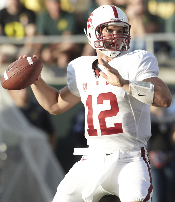 There is a long history of college quarterbacks delaying the riches of the NFL  and electing to return to college. The latest is Stanford's Andrew Luck, who announced he will forego this year's NFL Draft, in which he would've been the unanimous No. 1 overall pick, so that he can earn his degree in architectural design.