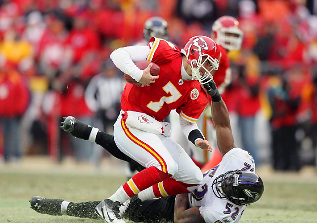 The star linebacker knows a championship defense when he sees one. Now the Kansas City Chiefs do, too. Lewis and Baltimore's tough and savvy defense overwhelmed the young Chiefs, sacking Matt Cassel three times and forcing five turnovers in the opening round of the playoffs.