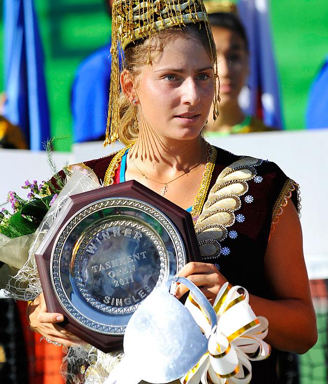 def. Eva Birnerova 6-3, 6-1 WTA International, Hard (Outdoor), $220,000 Tashkent, Uzbekistan