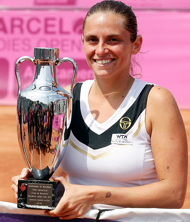 def. Lucie Hradecka, 4-6, 6-2, 6-2 WTA International, Clay (Outdoor), $220,000 Barcelona, Spain