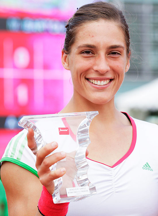 def. Marion Bartoli, 6-4, 1-0 (ret.) WTA International, Clay (Outdoor), $220,000 Strasbourg, France