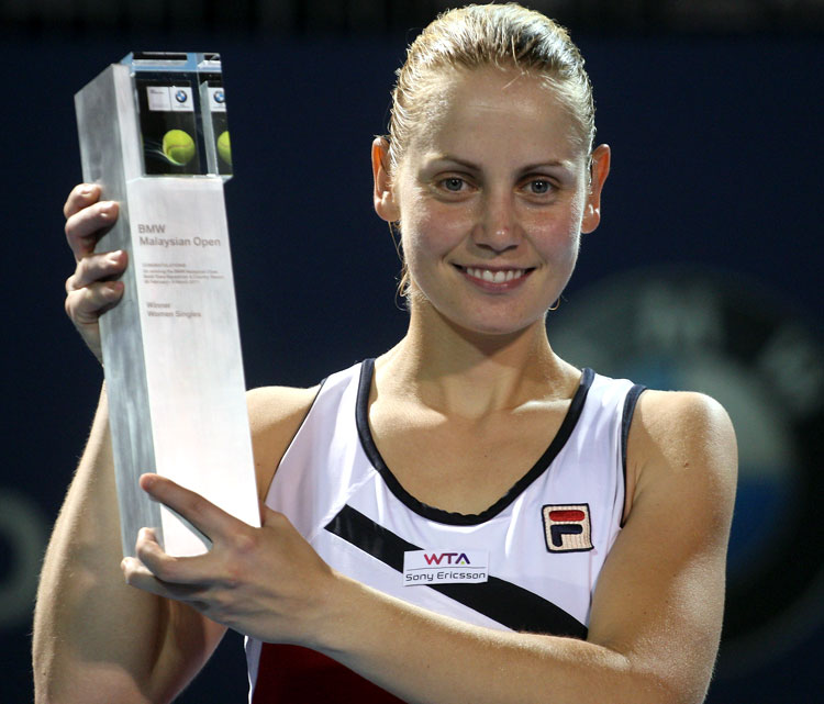 def. Lucie Safarova, 2-6, 7-6 (9), 6-4 WTA International, Hard (Outdoor), $220,000 Kuala Lumpur, Malaysia