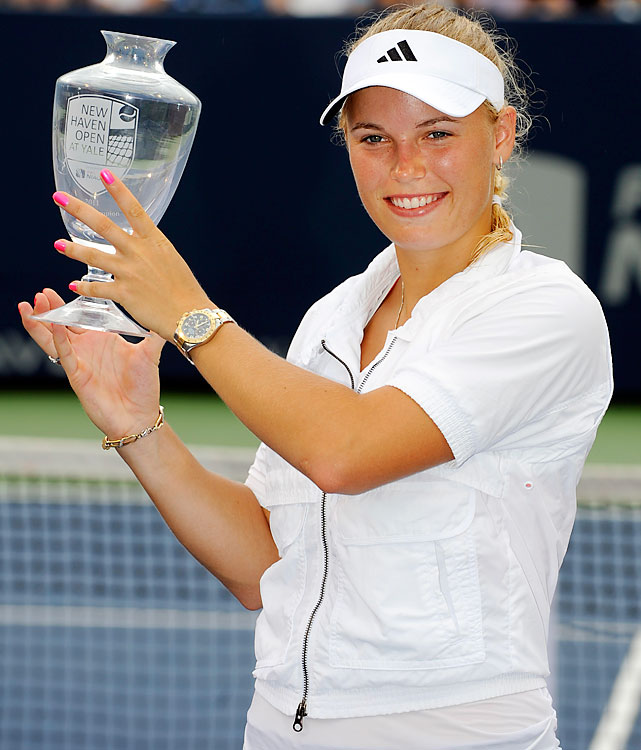 def. Petra Cetkovska 6-4, 6-1 WTA Premier, Hard (Outdoor), $618,000 New Haven, Conn.