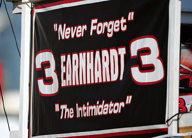 One of the many reminders of Dale Earnhardt on the tenth anniversary of his death.