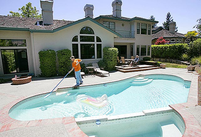 As young Oakland athletics, Swisher and Gaudin rented this house, along with teammate Joe Blanton.