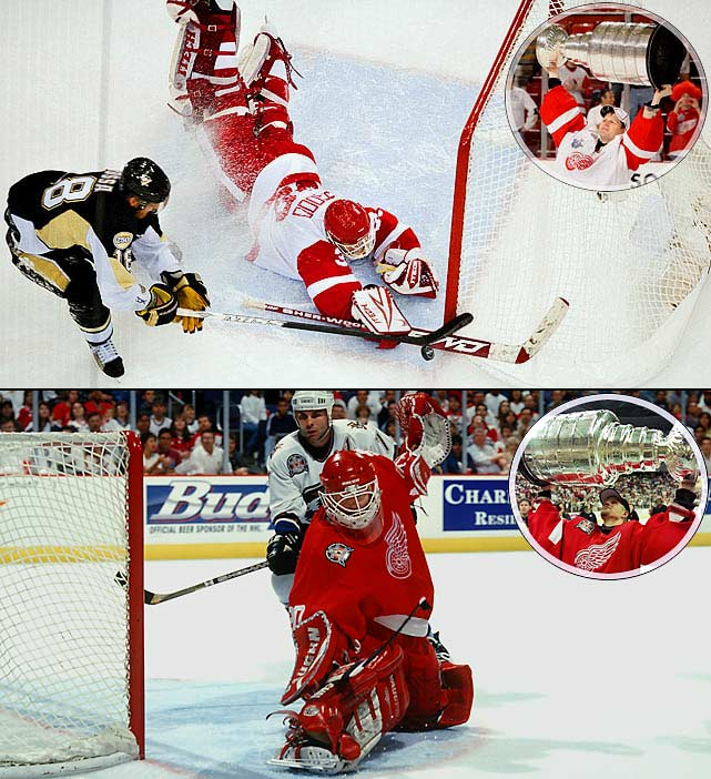 Chris Osgood, 38, announced his retirement on July 19, deciding not to return after a 2010-11 season that was ended in January by sports hernia surgery. Though he was rarely, if ever, considered an elite goalie, Osgood crafted an impressive resume during his 17 seasons in the NHL. Drafted by Detroit in the third round (54th overall) in 1991, he went on to rank 10th all-time with 401 career victories, including 317 for Detroit, which left him behind only Hall of Famer Terry Sawchuk (352) on the Red Wings' wins list. Osgood appeared in 744 games with a 2.49 goals-against average, .905 save percentage and 50 shutouts. Though plagued by a propensity to allow soft goals, he saved his best play for the postseason where he won the Stanley Cup twice as Detroit's starter (1998, 2008) and once as its backup (1997). Overall, he had a 74-49 record, 2.09 GAA, .916 save pct. and 15 shutouts (4th all time) in 129 playoff games. He also played for the Islanders and Blues during a distinguished career that will garner Hall of Fame consideration. Osgood will remain with Detroit to help scout and develop goaltenders.