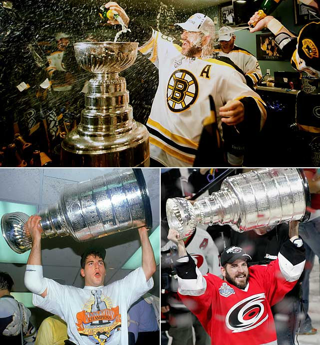 After winning a third Stanley Cup with a third different team, Mark Recchi hung up his skates at age 43 -- 22 years after entering the NHL with the Penguins. Drafted in the fourth round (67th overall) in 1988, he went on to play 1,652 regular season games for seven teams, scoring 577 goals (12th all time) and 1,533 points. He tacked on another 147 points in 15 postseasons and won the Cup with Pittsburgh in 1991 and Carolina in 2006, keeping his promise to retire should the Bruins win it in 2011, which they did in seven games over the Vancouver Canucks. In the process, Recchi became the oldest man to score a goal in a Stanley Cup Final.