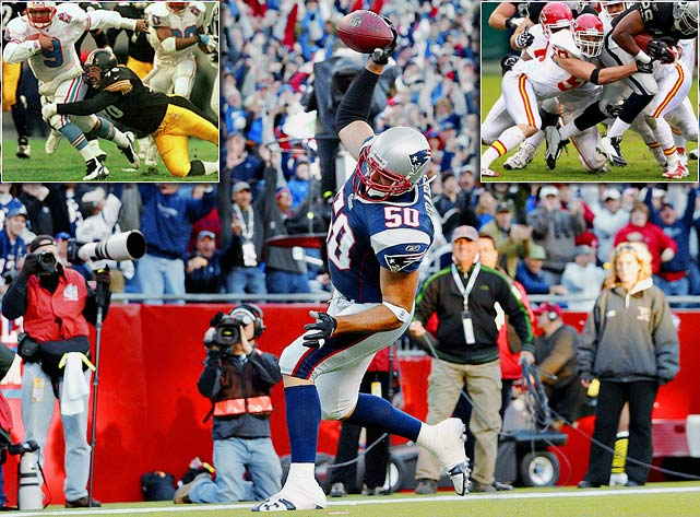 A former linebacker for the Steelers, Patriots and Chiefs, Mike Vrabel announced his retirement from the NFL in mid-July. Vrabel was a premier pass-rusher throughout his career, racking up 484 tackles and 57 sacks -- and three Super Bowl rings -- in his 14-year tenure. His departure doesn't mean he's leaving football altogether, though. Vrabel will return to Ohio State, his alma mater, as the Buckeyes' new linebackers coach.