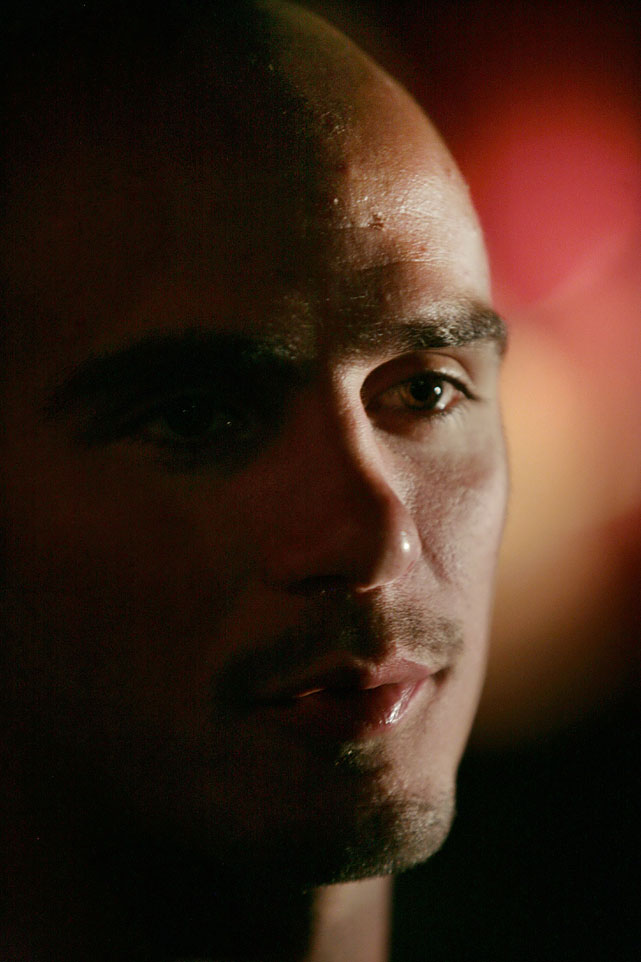 Pavlik listens during a press conference for his non-title bout with Bernard Hopkins.