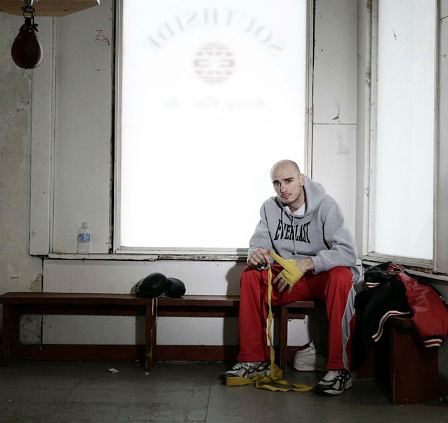 Another shot from Pavlik's  SI  photo shoot at the Southside Boxing Club, where he's been trained by Jack Loew for his entire career.