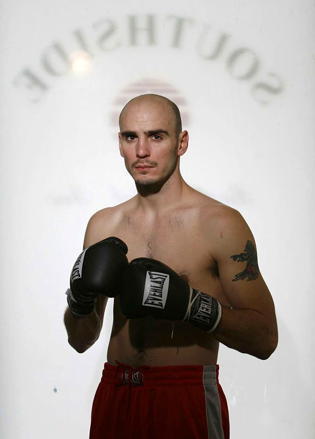 Pavlik at poses at the Southside Boxing Club in Youngstown for a  Sports Illustrated  photo shoot.