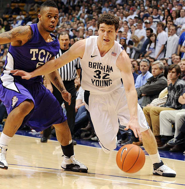 Strengths:  The No. 1 scorer in college basketball. Skilled and savvy guard with unlimited shooting range. Poised, confident player who can light up the scoreboard in the blink of an eye. Has captured the hearts of college basketball fans and media members across the country this season with his exhilarating play.    Needs Work:  Average athlete by NBA standards who contributes very little outside his scoring. Will likely not be able to operate in the NBA with the same freedom he does at BYU, which could limit his effectiveness. Puts little to no effort in defensively, which could deem him a liability.
