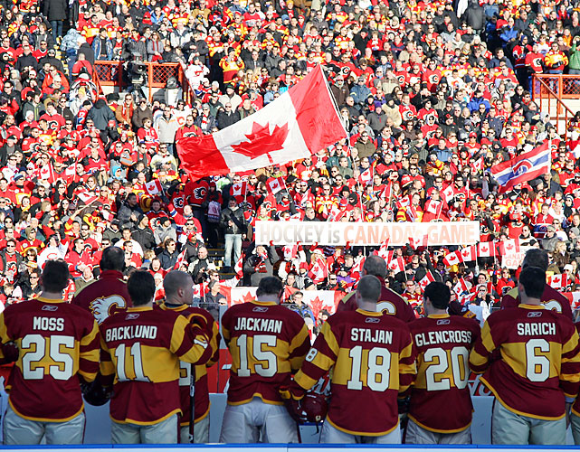 The Canadian crowd resembled last year's Olympic hockey gold-medal game.