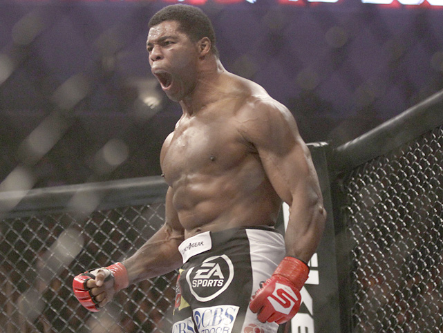 Walker, 48, celebrates after beating 40-year-old Scott Carson in a Strikeforce heavyweight mixed martial arts fight in San Jose in January 2011. The former star NFL running-back won by a technical knockout in just over three minutes, improving his record to 2-0 in the MMA.