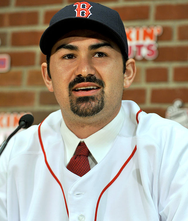 Career highs by category:   .304 AVG, 40 HR, 119 RBI, 103 R, 1 SB  Projected numbers:   .290 AVG, 37 HR, 120 RBI, 105 R, 0 SB   The Red Sox pulled a bit of genius getting an in-his-prime Gonzalez on the verge of his first free-agent contract. If he can get .304-40-119-103-1 highs in the cavernous Petco Park with no supporting cast in San Diego, you have to expect he is going to shatter his career highs in a few, if not all, categories in Fenway Park in Boston. This is going to be an offensive machine with the addition of Carl Crawford and the returns to health of Dustin Pedroia, Kevin Youkilis and Jacoby Ellsbury. Oh, J.D. Drew and David Ortiz are also in contract years, too. Gonzalez is just in a perfect situation to outperform his No. 5 ranking at the first base position.