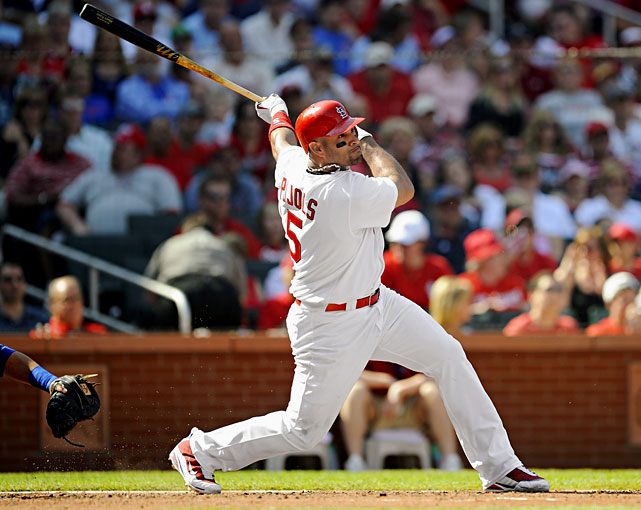 Career highs by category:   .357 AVG, 49 HR, 137 RBI, 137 R, 16 SB  Projected numbers:   .331 AVG, 41 HR, 123 RBI, 118 R, 8 SB   Pujols won't go past the first pick in your draft, but we figure we have to list him somewhere in this top 10, since he is still in his prime. He also has the addition of Berkman and the maturation of Colby Rasmus working in his favor around him. Pujols already had a $100 million contract to his credit, the first on this list to get a second big contract -- yet he is still just 31. Yeah, get your hands on Pujols, if you can.