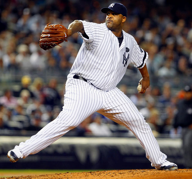 Career highs by category:   21 W, 2.70 ERA, 251 K, 1.11 WHIP  Projected numbers:   20 W, 3.20 ERA, 200 K, 1.15 WHIP   Sabathia is a unique case because, like A-Rod before him, he already signed a huge contract that gives him an out after this season. Remember the last time he and A-Rod were in a contract year? Sabathia tossed a career high 253 innings, working on three-day's rest every turn down the stretch of '08, winning 17 games, striking out a career-high 251 batters and posting a career-low 2.70 ERA and a career-low 1.115 WHIP. Oh, he also had a career-high 10 complete games, which is almost double his next-highest total in any other season. It is enough to make a millionaire change his life and his eating patterns. Sabathia did. He reportedly is 25 pounds lighter this spring under a new diet and training regimen. Sounds like someone motivated to opt of a seven-year, $161 million deal after this season.
