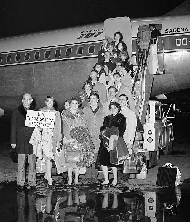 On the evening of Feb. 15, 1961, Sabena Flight 548 departed New York City with a precious cargo: the entire U.S. figure skating team.  The flight was slated for Brussels, Belgium, but never arrived, crashing a few miles short of Brussels' Zaventem Airport.  Eighteen skaters, six coaches, 10 judges and 38 other passengers died in the crash.  On the 50th anniversary of the catastrophe, SI.com takes a moment to remember those who lost their lives that day.