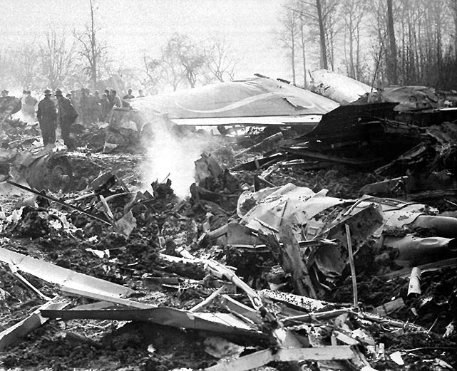The exact cause of the plane crash was never determined.  Many speculate, however, that an issue with the stabilizer was to blame.  Out of sympathy for the Americans, the 1961 world championships were canceled that year.