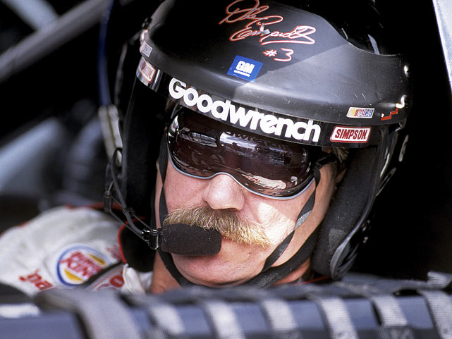 Anxiously awaiting the start of the Goody's Body Pain 500 at Martinsville Speedway, Earnhardt peers out of his window.