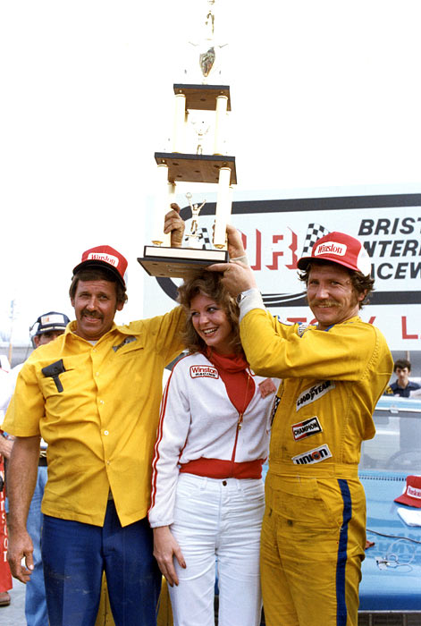 Dale Earnhardt takes his first victory at Bristol International Speedway on April 1, 1979.