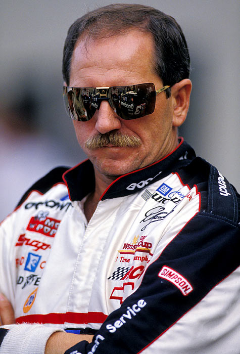Earnhardt's fearless approach to driving and his penchant for hard racing, earned him the nicknames The Intimidator and the Man in Black.