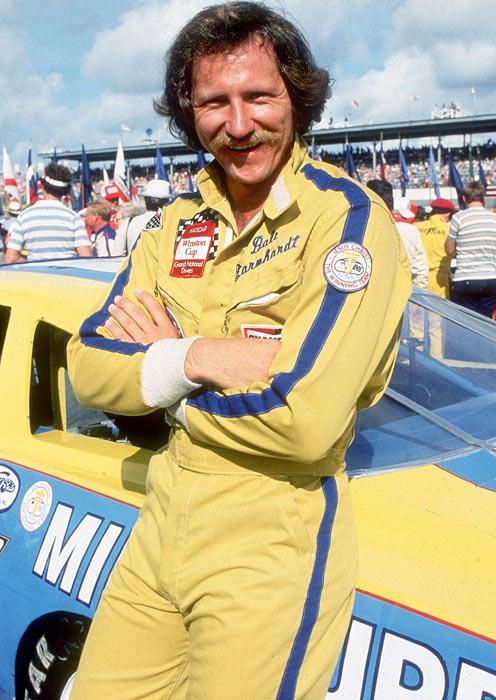 Earnhardt poses before the Firecracker 400 at Daytona.