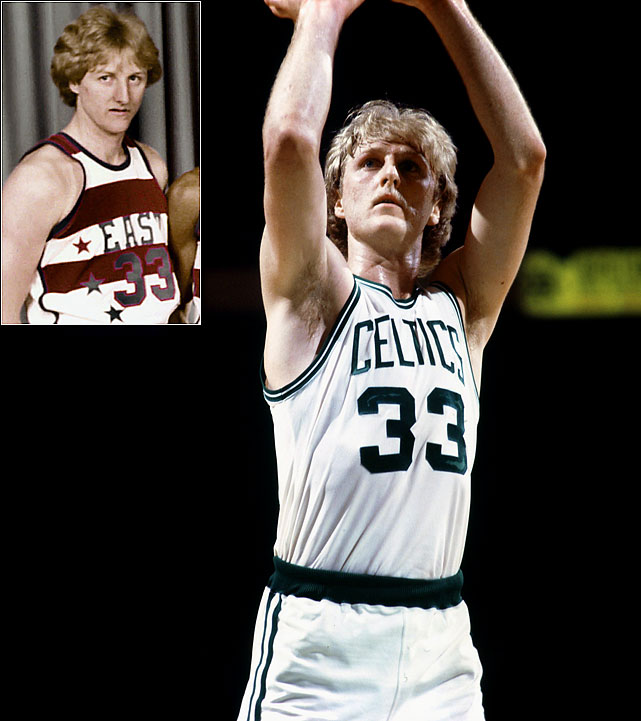 The three-time NBA champion and three-time NBA MVP, Bird was selected to his first of 12 All-Star Games in 1980, when he turned heads for becoming the highest-paid rookie in league history at the time with a $650,000 salary. And he was worth every penny. He led the Celtics in scoring (21.3 points) and rebounding (10.4), as well as total steals (143) and minutes (2,955). He was, fittingly, named the league's Rookie of the Year that season, and helped the East to a 144-136 overtime victory over the West and his rival on the court, Magic Johnson.
