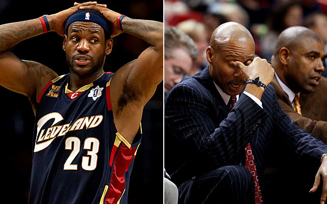 After losing LeBron James from the team with the NBA's best record, the '10-11 Cavaliers neared the All-Star break on pace for the worst single-season decline in league history, both in terms of number of victories and winning percentage. Here are the hapless teams that Cleveland is poised to join, listed in order of biggest drop-offs in winning percentage.