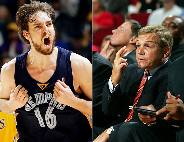 Pau Gasol and the Grizzlies made the last of three consecutive playoff appearances (and three straight first-round exits without a victory) in 2006. Memphis began the '06-07 season without Gasol, who broke his foot at the FIBA World Championship during the summer. That helped lead to a 6-24 start and Jerry West's decision to fire coach Mike Fratello. The Grizzlies have not returned to the playoffs since '06.