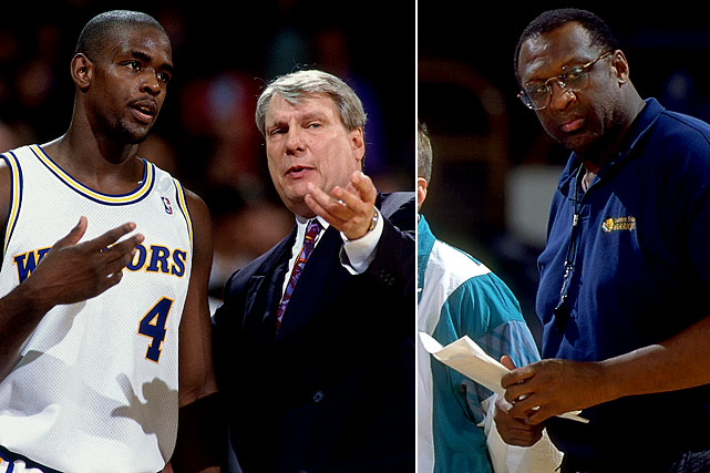 What looked like a promising future for Golden State quickly fizzled: Chris Webber held out after his Rookie of the Year season in '93-94, and that contract dispute coupled with his feud with coach Don Nelson led the Warriors to trade him to Washington in November '94. Not that Nelson outlasted Webber by too long. Nellie was out and Bob Lanier was in midway through '94-95, the first of 12 consecutive playoff-less seasons for the Bay Area team.