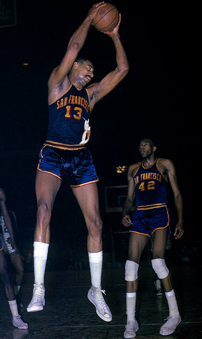The Warriors reached the '64 Finals behind Wilt Chamberlain (36.9 ppg, 22.3 rpg), but, after a poor start in '64-65, they traded the dominant (but expensive) big man to Philadelphia. Nate Thurmond and Co. went 6-41 in the last 47 games without Wilt, finishing with a then-record 31 fewer victories than they did the previous season.