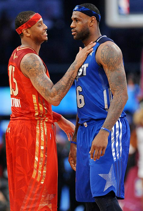 "Carmelo told SI's Ian Thomsen that he doesn't want to handle his departure from Denver like LeBron James approached his exit from Cleveland:   ""I would never go about it the way LeBron did it.""  ""If he could do it all over again, he wouldn't do it that way -- he would do it a totally different way, I can guarantee you that,"" added Anthony, who said he talks to James and fellow NBA stars Chris Paul, Kobe Bryant and Dwyane Wade regularly."