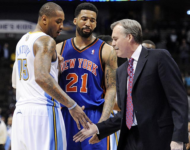 """Talks between the Knicks and Nuggets began to heat up, according to ESPN.com -- though other outlets said it has """"no legs."""""""