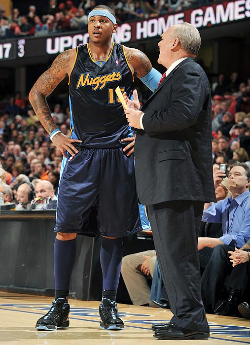 """At the start of the season, with coach George Karl back on the bench after another battle with cancer, Carmelo told Yahoo! that he had no intention of signing the extension with Denver.   """"They want to sit down and talk, but my thing is it's way beyond this year. It ain't got nothing to do with the new GM, [owner] Josh [Kroenke], the players. For me, I feel it's a time for change.  """"If I do nothing now, I'm never going to do anything. I feel like my time is now to make a decision if I want to leave or if I want to stay."""""""