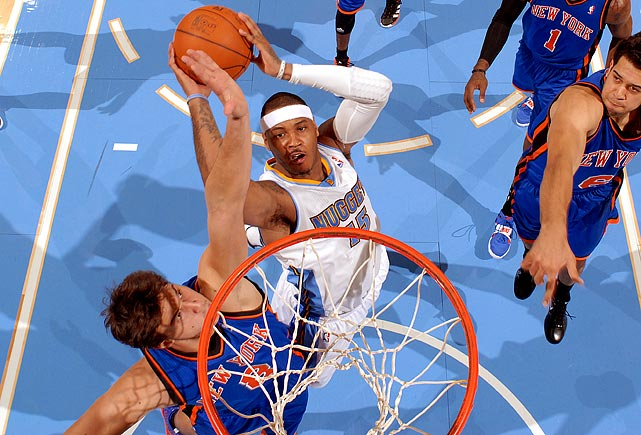 """When Anthony and the Nuggets visited Madison Square Garden to play the Knicks, he said he never entertained the possibility that it could be the last time he plays  against  the Knicks.  """"I never thought about that [Tuesday night]. Never. Not once. Never. That wasn't even on my mind."""""""