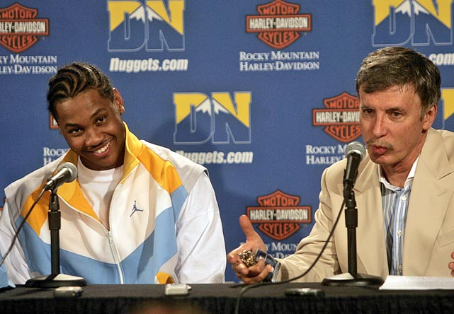 "Finally. After a long six months of speculation, the Carmelo saga ended with the All-Star forward getting traded to New York -- his preferred destination all along. Here's a look back over the chain of events, including his statements at the time ...  Let's start back in 2006 when he signed a five-year extension with the Nuggets. Unlike his fellow celebrated 2003 draft mates (LeBron James, Dwyane Wade and Chris Bosh), Anthony opted for a longer deal, worth $80 million, that included an early termination option after his fourth year. At the time of the signing, Carmelo sounded happy to stay in the Mile High City:   ""This is where I want to be,"" Anthony said. ""The whole state has embraced me.""  My how things changed."
