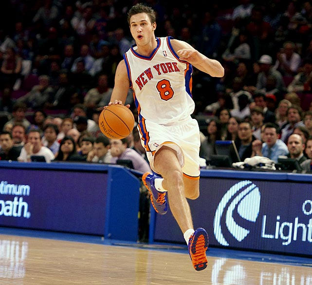 Gallinari shot only 41.5 percent from the field and 34.7 percent from three-point range with the Knicks this season, but he's still an intriguing prospect as a 22-year-old former No. 6 pick who has shot the ball well in the past and is learning to get to the line more. The 6-10 forward missed almost his entire rookie season, in 2008-09, so he's essentially a second-year player still developing. Assuming the Nuggets keep him past the trade deadline, he should get plenty of offensive opportunities in Denver as the Nuggets seek to replace Carmelo's scoring.