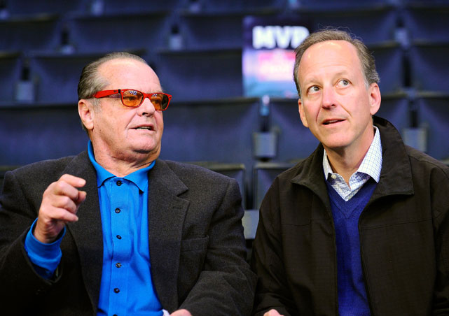Since his latest job on The Golf Channel ended early, Jim Gray had plenty of time to take in the sights at Staples Center, where he said courtside with Laker die-hard Jack Nicholson.